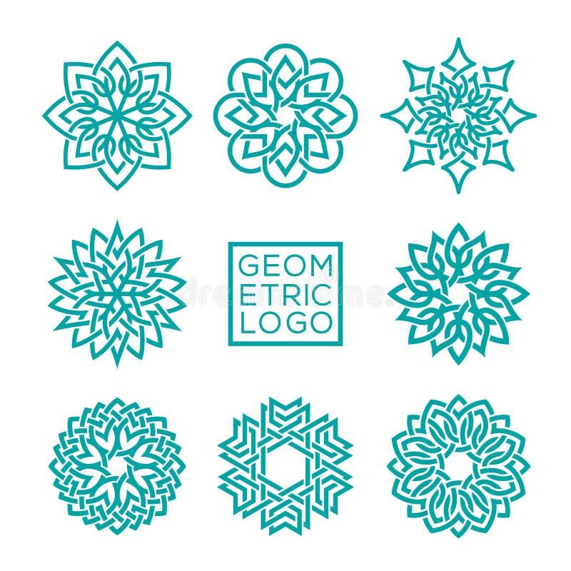 Calibres géométriques de conception d'ornement illustration stock