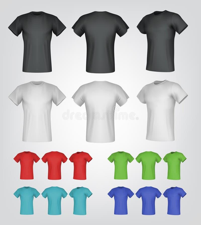 Calibres masculins simples de T-shirt illustration stock