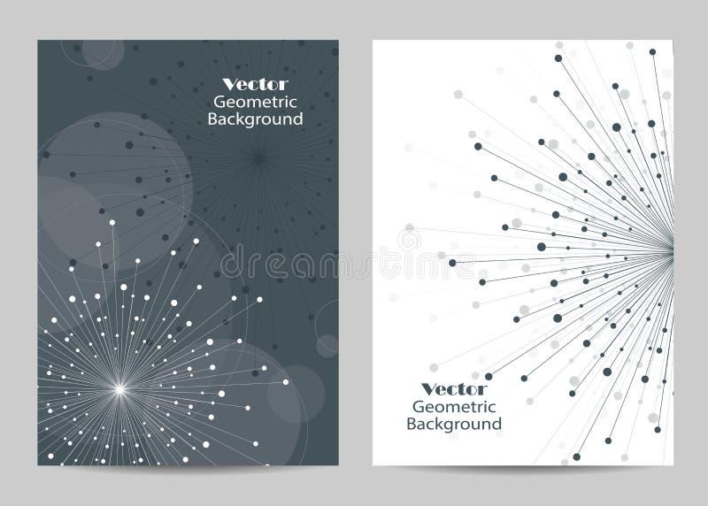 Calibres modernes de vecteur pour la couverture de brochure dans la taille A4 illustration libre de droits