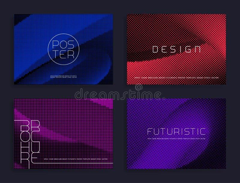 Calibres tramés modernes d'affiche Milieux abstraits de vecteur illustration de vecteur