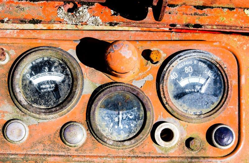 Calibri d'annata del trattore fotografia stock