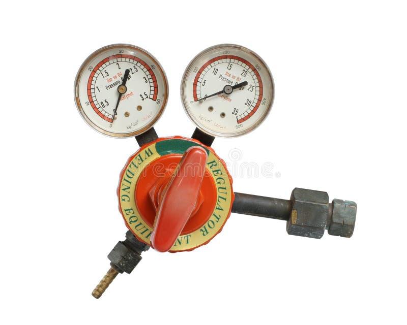 Calibri del regolatore del gas fotografia stock