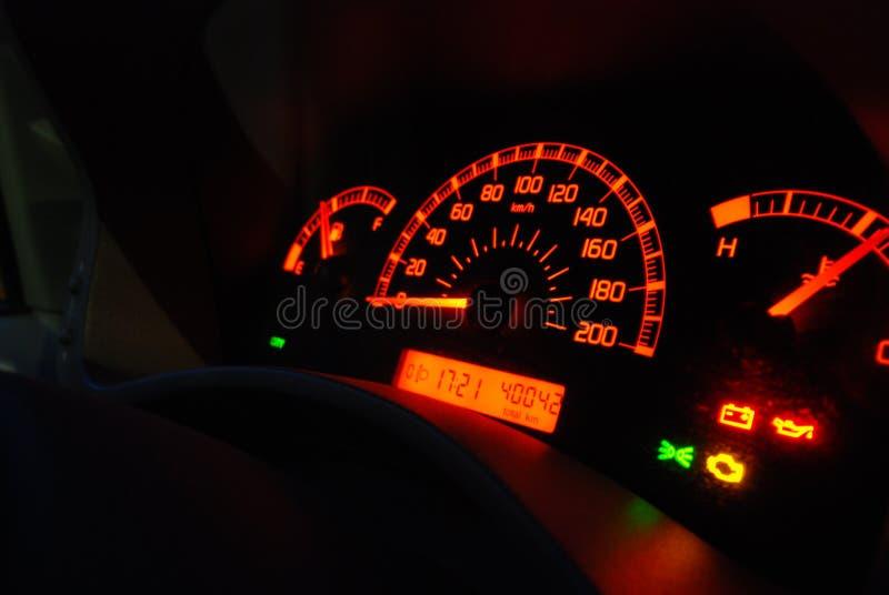 Calibri dell'automobile illuminati immagine stock