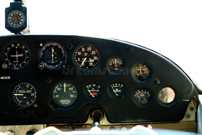 Calibri nella cabina di guida di Cessna. fotografie stock