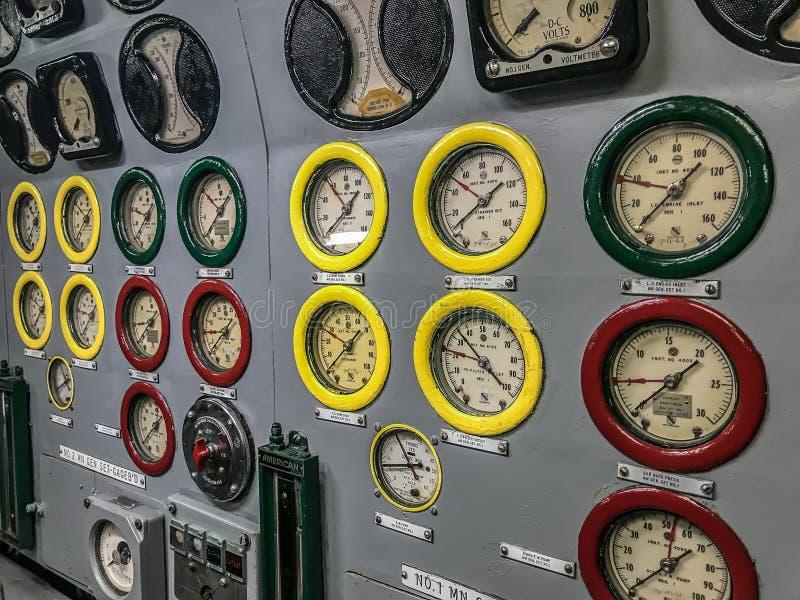 Calibri sul sottomarino degli Stati Uniti fotografia stock libera da diritti