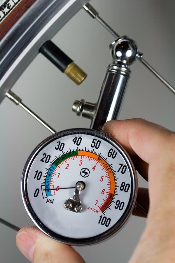 Calibro di pressione d'aria fotografie stock libere da diritti
