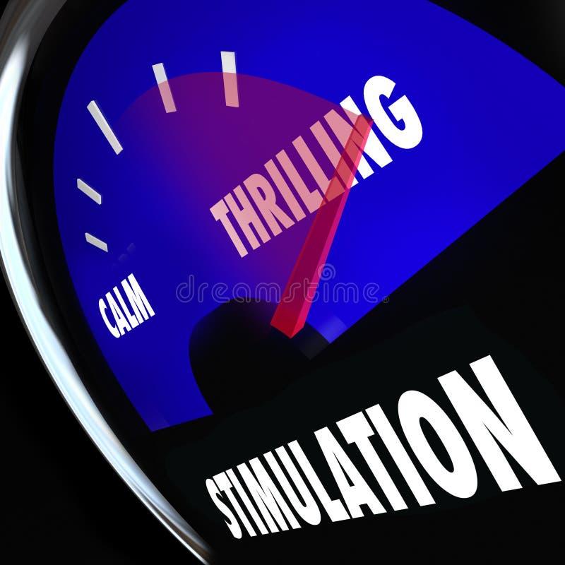 Calibro di stimolazione che aumenta risveglio sessuale livellato di eccitazione illustrazione di stock