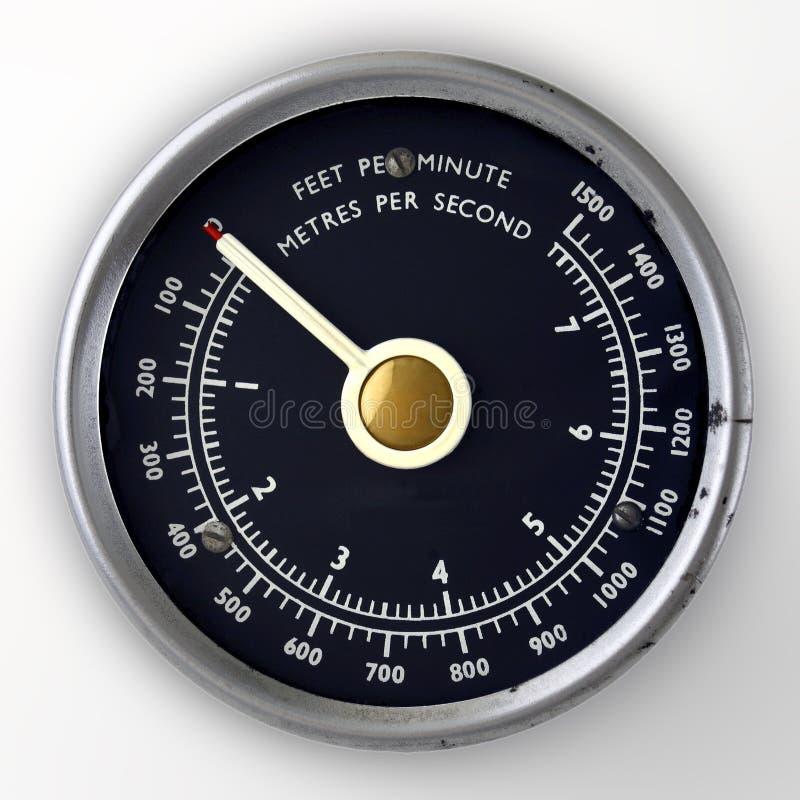 Calibro di velocità di aria immagini stock