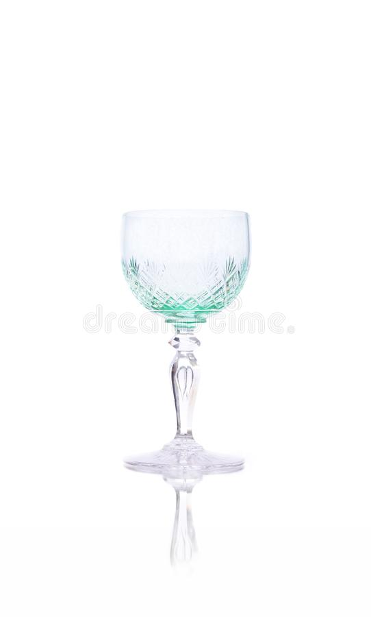 Calice en cristal antique de liqueur images libres de droits