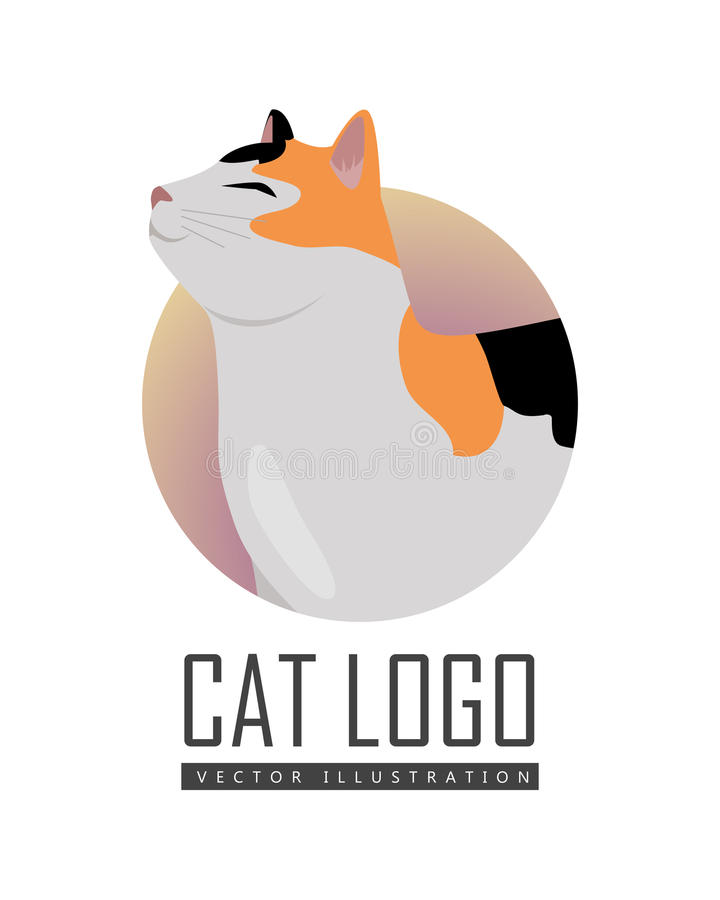Calico Cat Vector Flat Design Illustration vector illustratie