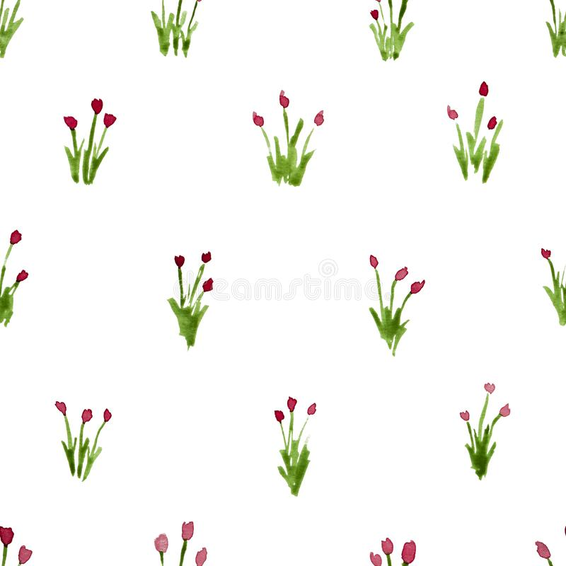 Calico watercolor pattern. stock illustration