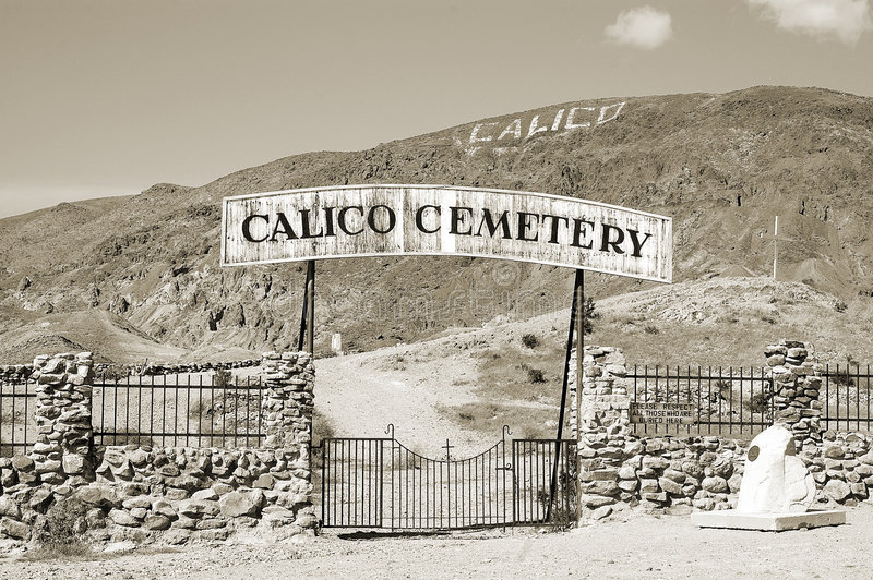 calicokyrkogård royaltyfria bilder