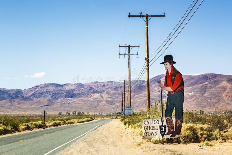 Calicospookstad, Californië, de Verenigde Staten van Amerika, Noord-Amerika stock afbeelding
