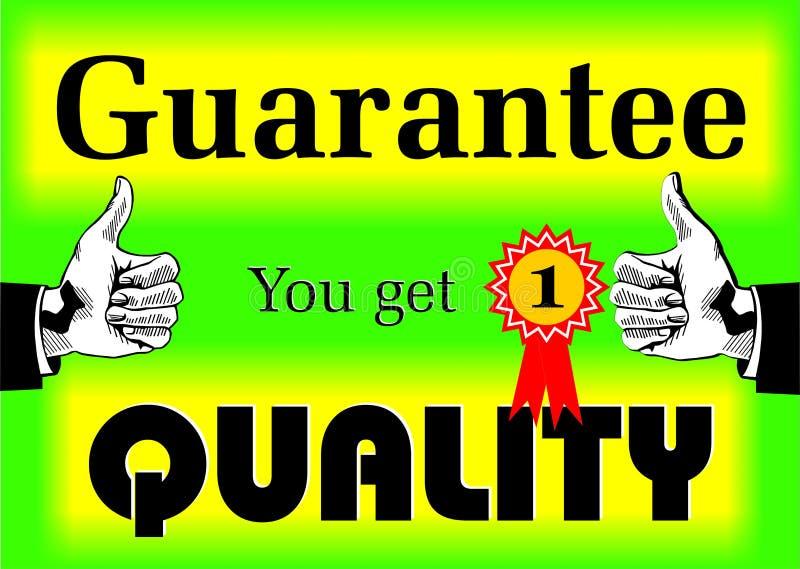 Calidad de la garantía stock de ilustración