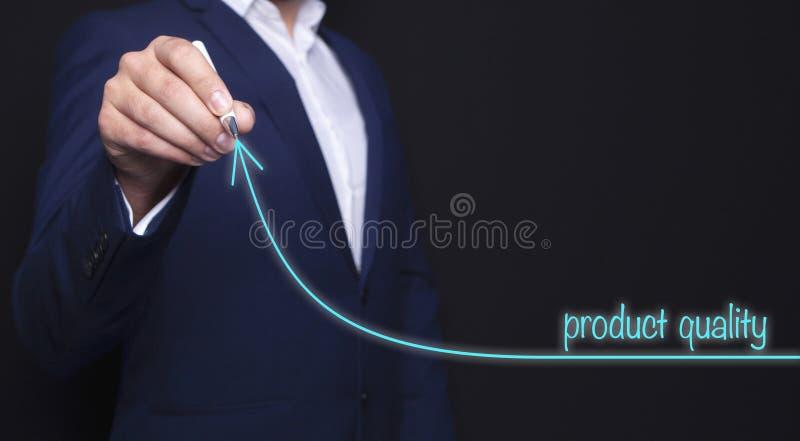 Calidad del hombre de negocios y del producto imagen de archivo libre de regalías
