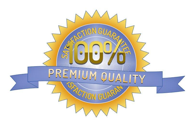 Calidad 100% del premio de la garantía de Satisftaction libre illustration