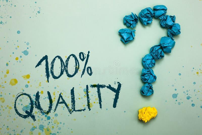 Calidad del texto 100 de la escritura El significado del concepto no garantizó que excelencia superior de las sustancias químicas fotografía de archivo libre de regalías