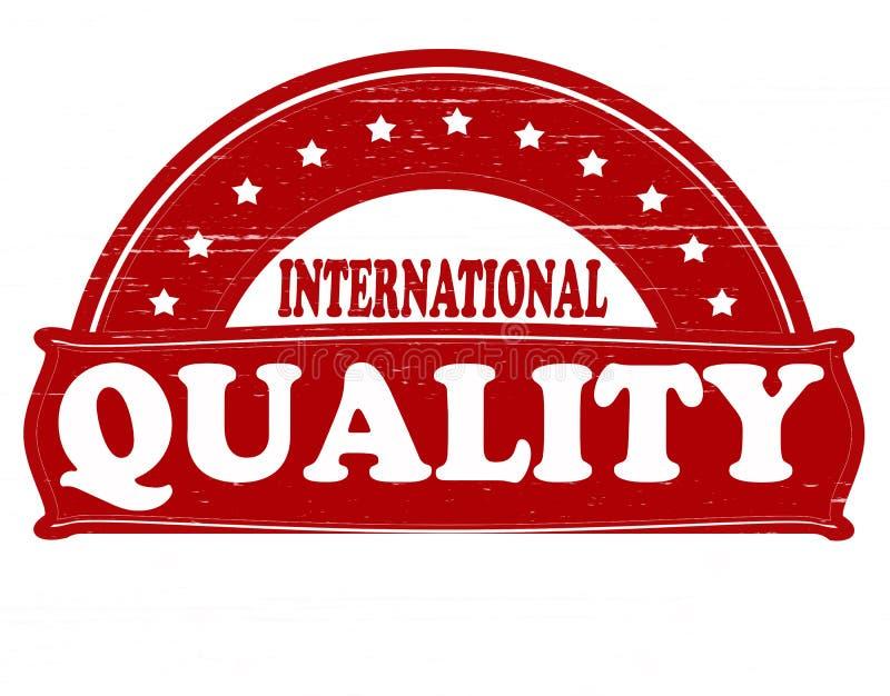 Calidad internacional stock de ilustración
