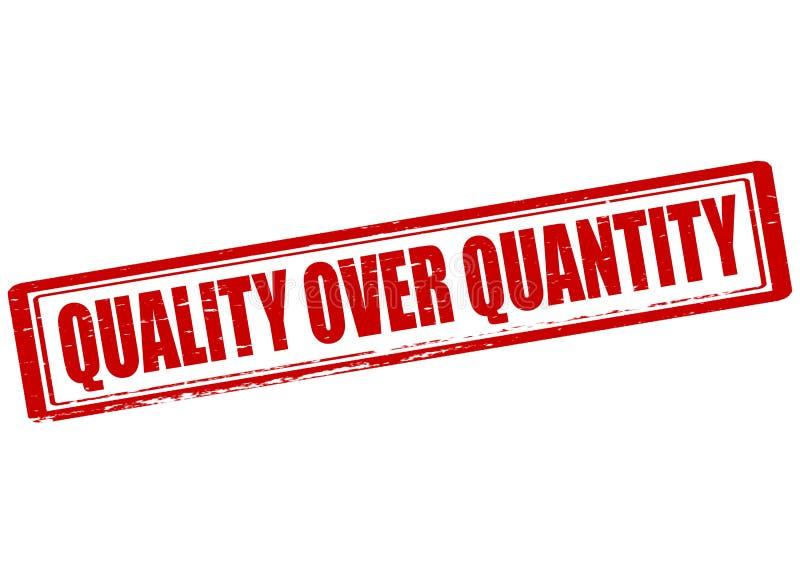 Calidad sobre cantidad stock de ilustración