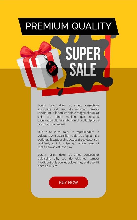 Calidad superior de productos, descuento estupendo de la venta stock de ilustración