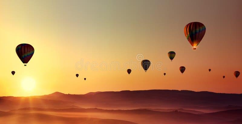 Caliente-aire-globos foto de archivo libre de regalías