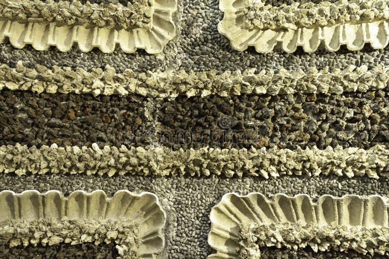 Caliente entonado detalló cerrado para arriba de piso pebbled blanco y negro histórico con los modelos geométricos del palacio It fotografía de archivo libre de regalías
