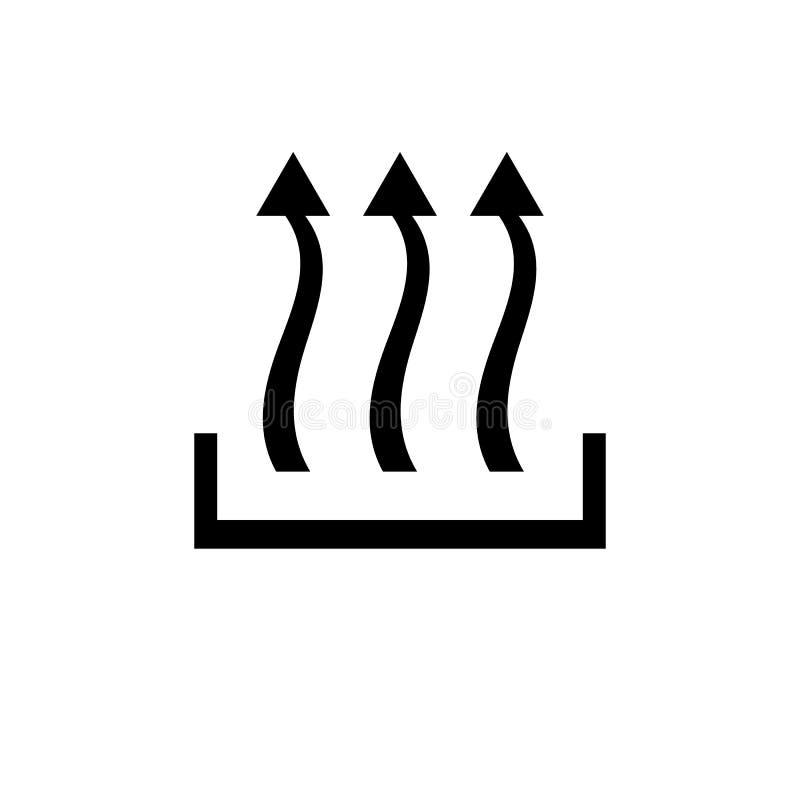 Caliente la flecha del icono tres encima del concepto stock de ilustración
