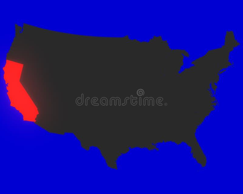 Califórnia ilustração royalty free