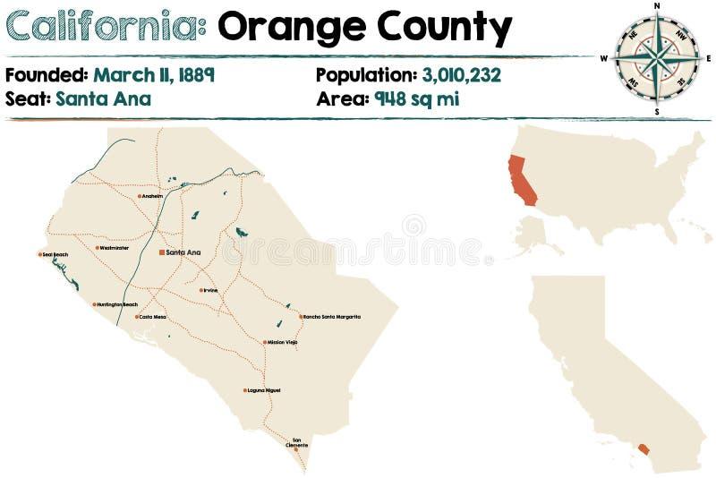 Califórnia - Condado de Orange ilustração do vetor