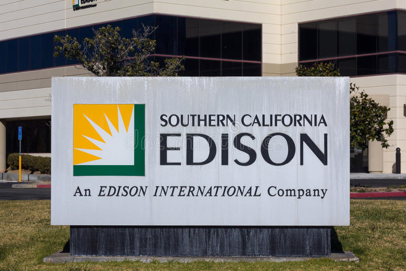 Califórnia do sul Edison Sign e logotipo fotografia de stock