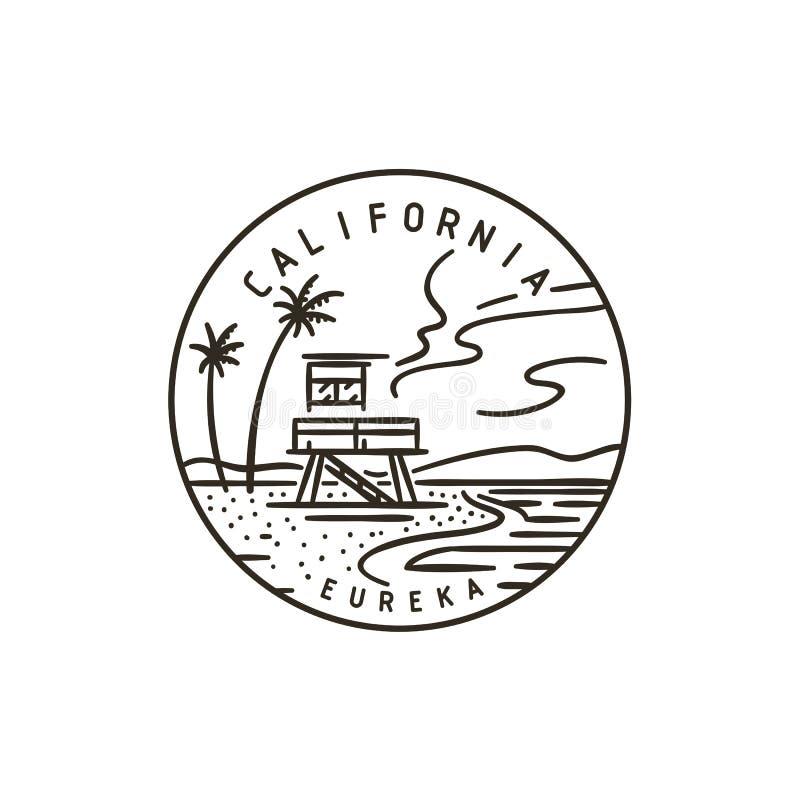 califórnia E ilustração do vetor