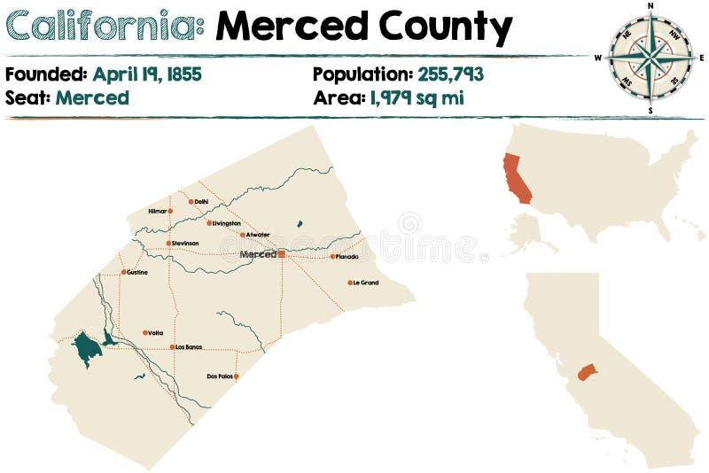 Califórnia: Merced County ilustração royalty free