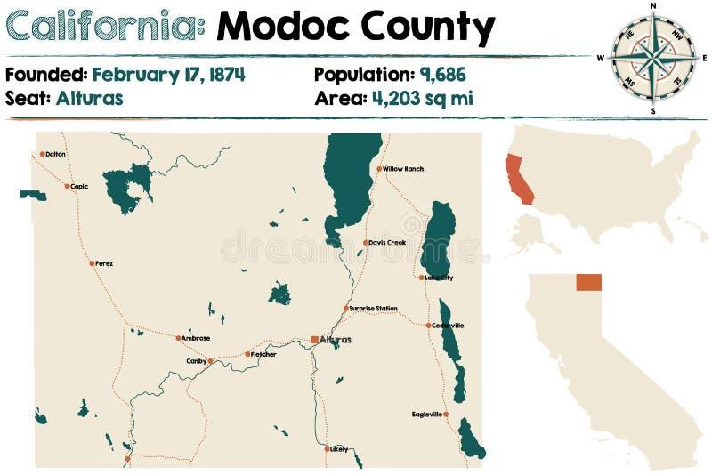 Califórnia: Modoc County ilustração royalty free
