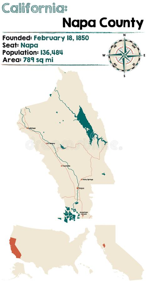 Califórnia - Napa County ilustração stock