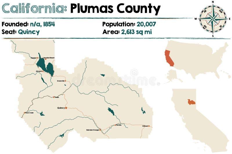 Califórnia - Plumas County ilustração stock