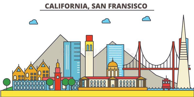 Califórnia, San Francisco Skyline da cidade ilustração royalty free