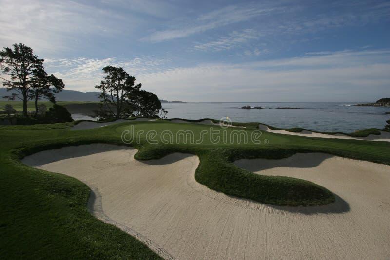 calif plażowy golfowych połączeń kamyczek zdjęcia royalty free
