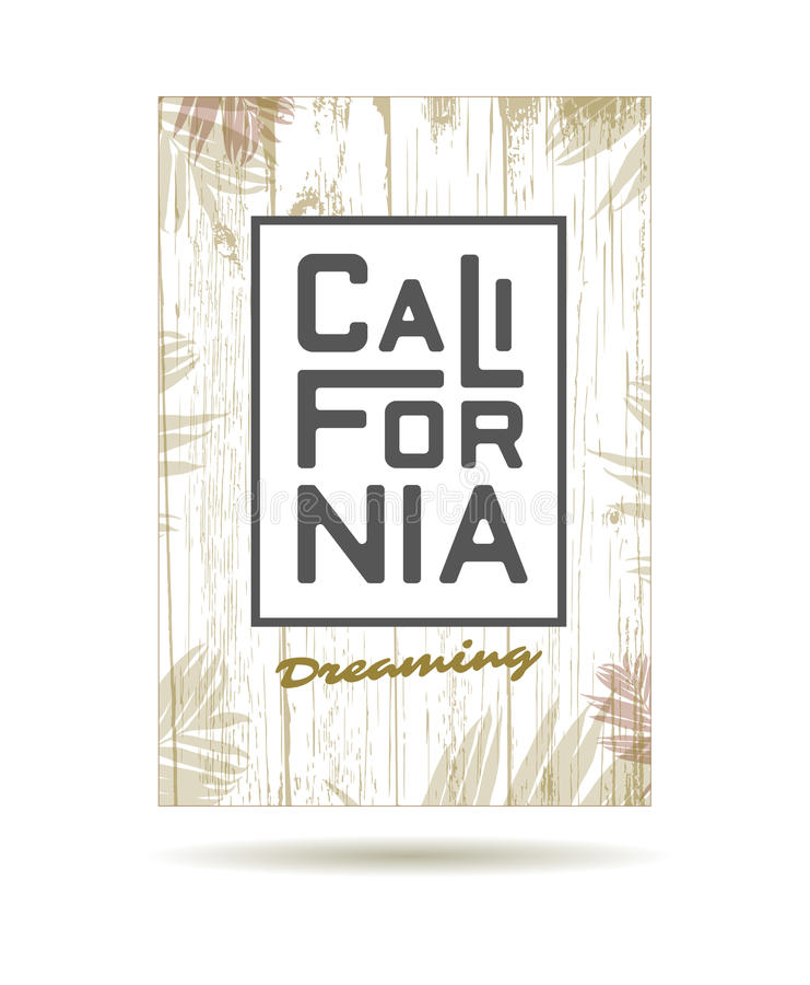californië royalty-vrije illustratie