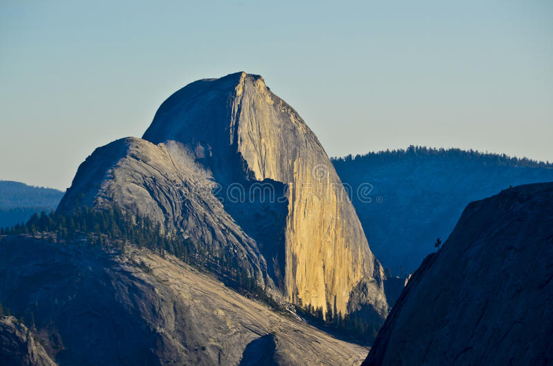 California. Half Dome at sunset in Yosemite National Park in California stock image