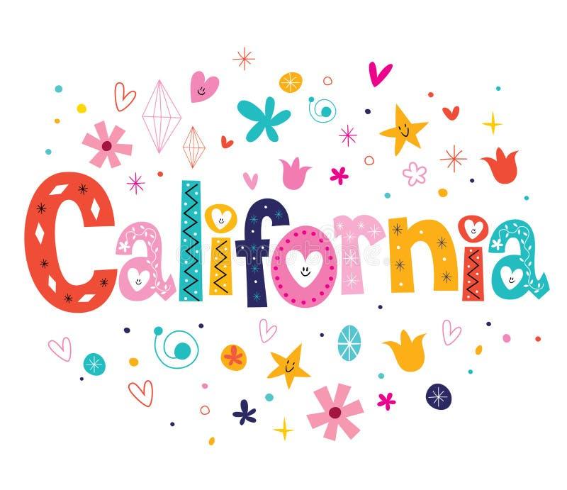 california illustration stock
