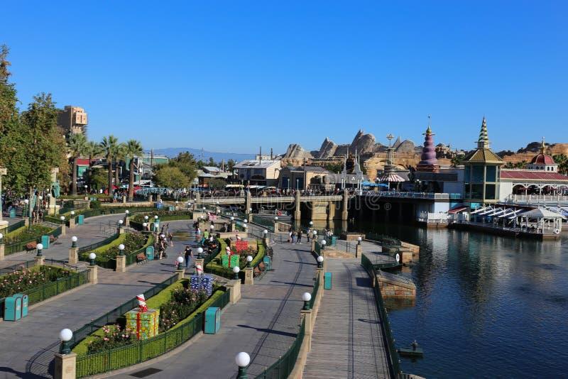 California Adventure area of Disneyland in California stock photography