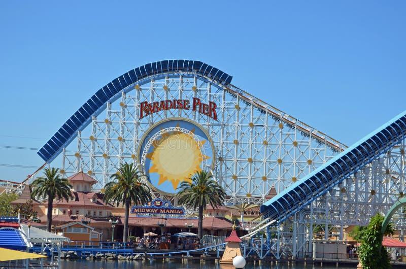 Download California Adventures Paradise Pier Roller Coaster Editorial Image - Image of california, roller: 26179465