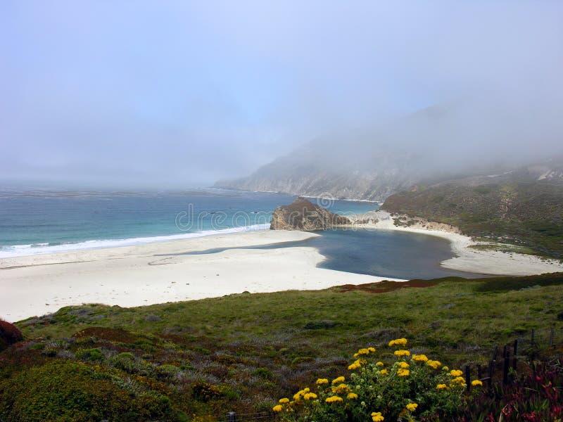 California Beach. Near Monterey, California stock photography