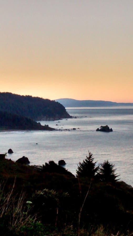 California beach sunset stock image