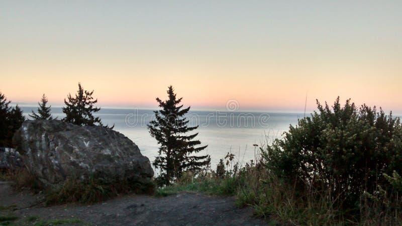 California beach sunset stock images