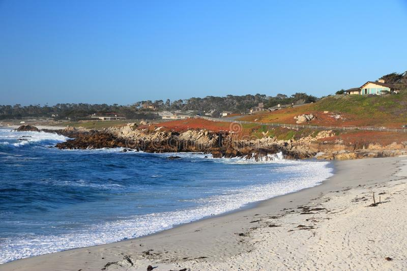 California beach. California, United States - Pescadero Cove view from Pebble Beach. Pacific coast royalty free stock images