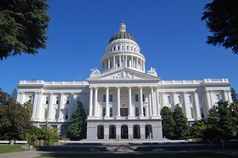 California Capitol, wide angle view royalty free stock photos