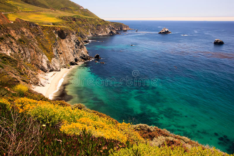 California Coast, Big Sur. Viewed from cliffs stock photography