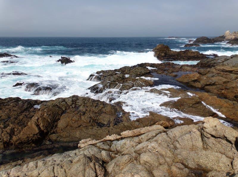 California Coastal Rocks and Cliffs - Road Trip down Highway 1 royalty free stock image