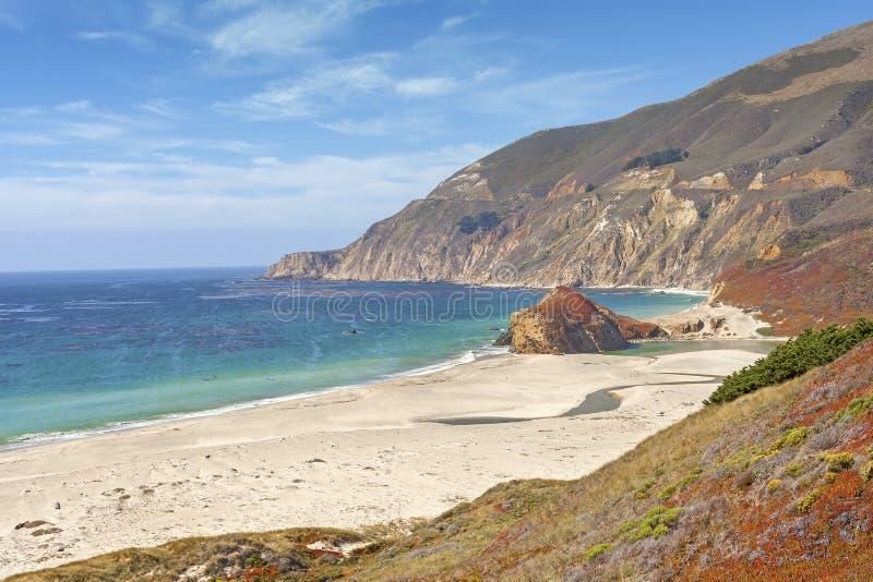California coastline along Pacific Coast Highway, USA.  royalty free stock images